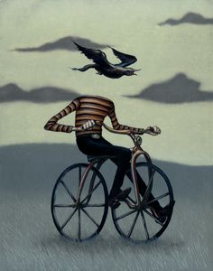 Only Surreal Art. Welcome to Surrealism Today. Art And Illustration, Art Illustrations, Fashion Illustrations, Land Art, Cyberpunk, Street Art, Bicycle Art, Cycling Art, Surreal Art
