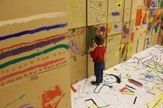 Cajas, papel, pintura...