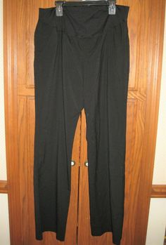 3f79da94bcd97 Maternity black dress pants sz 10 Liz Lange front & back pockets flex  panel #