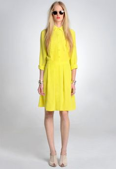 yellow dress — repinned for post on yellow @ http://designmindful.com/yellow/
