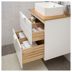 Godmorgon Tolken Horvik Bathroom Vanity Resjon White Bamboo