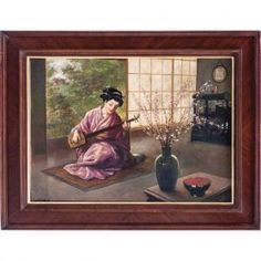 Artists Auction Results Database, browse the details of each Lot, big size image and detailed description. Detailed Image, Geisha, Auction, Product Description, Artist, Painting, Artists, Painting Art