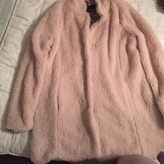 Very cute light pink coat, runs big in my opinion New. Jackets & Coats