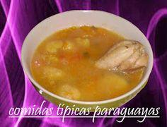 Comidas Típicas Paraguayas: Bori Bori de Gallina (caldo de pollo con bolitas de maíz)