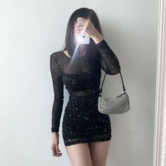 Edgy Outfits, Teen Fashion Outfits, Night Outfits, Classy Outfits, Look Fashion, Grunge Outfits, Cute Outfits For Party, Winter Party Outfits, Grunge Party Outfit