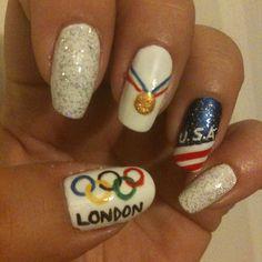 Olympic spirit nails!