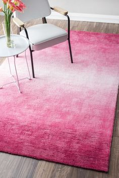 Add a contemporary touch to your space with the Nuloom Ombre Bernetta Rug. This rug will be the focal point in any room with it's striking ombre design. It features vibrant hues that will give your space a pop of color. Plush Area Rugs, Polyester Rugs, Area Rug Sizes, Pink Design, Modern Area Rugs, Rugs Usa, Rectangular Rugs, Simple Colors, Home Depot