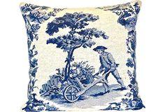 Gardener Needlepoint Pillow