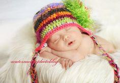 cute pose for a winter newborn