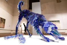 This is a series of sculptures made from shards of glass. Each piece was crafted by Artist Marta Klonowska, who I assume does NOT share the same fear of br