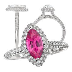 18k Elite Collection created 10x5mm marquise pink sapphire engagement ring with pave' diamond halo, http://www.amazon.com/dp/B00A41TJEI/ref=cm_sw_r_pi_awdm_EaI7vb1MFB0ZK