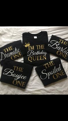 Set of 5 Matching Birthday Tshirts Customized Birthday Shirts Birthdays birthday shirts 38th Birthday, Sweet 16 Birthday, Mom Birthday, Birthday Ideas, Birthday Bash, Birthday Woman, Birthday Parties, Birthday Group Shirts, Custom Birthday Shirts