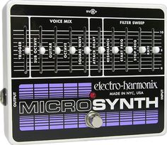 Buy your Electro-Harmonix Bass Micro Synthesizer Analog Microsynth Bass Effects Pedal from Sam Ash and receive the guaranteed lowest price. Bass Pedals, Guitar Pedals, Moog Synthesizer, Analog Synth, Digital Piano Keyboard, Used Guitars, Bass Guitars, Drum Machine, Ideas