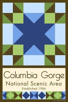 Columbia Gorge National Scenic Area Quilt Block