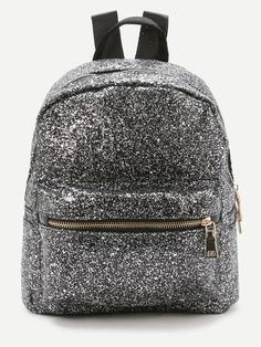 SheIn offers Sliver Front Zipper Glitter Backpack & more to fit your fashionable needs. Cute Mini Backpacks, Colorful Backpacks, Stylish Backpacks, Guess Backpack, Backpack Bags, Tote Bags Online, Backpack Online, Sequin Backpack, Accesorios Casual