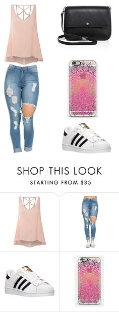 """""""Sin título #123"""" by karenrodriguez-iv on Polyvore featuring moda, Glamorous, adidas, Casetify y Tory Burch"""