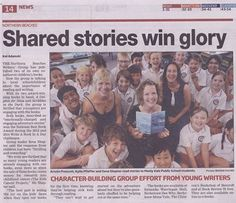 """Photo: Yay! In the Manly Daily today! I'm talking about how kids are reacting to the Northern Beaches Writers' Group's two books, """"Scribbles in the Dark"""" & """"A Dolphin for Naia"""".   If you'd like to buy them for your kids (Christmas is coming!), follow the links here: http://www.amazon.com/s/ref=nb_sb_noss?url=search-alias%3Daps&field-keywords=zena+shapter&rh=i%3Aaps%2Ck%3Azena+shapter"""