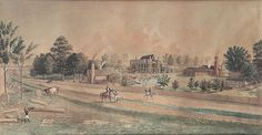 Marie Adrien Persac (1832-1873). Star Plantation, St. Charles, Louisiana. Gouache on Paper. Circa 1861. Born in France and Active in New Orleans 1857-1872.