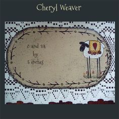 Handpainted Canvas Candle Mat with Sheep and Twig by cherylweaver, $6.00