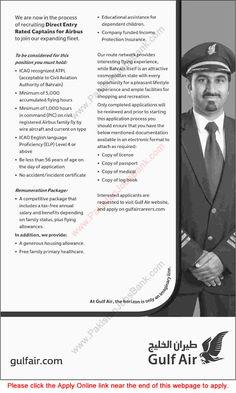 Jobs in Pakistan: Gulf Air Pilot Jobs 2015 October for Pakistani Cap...