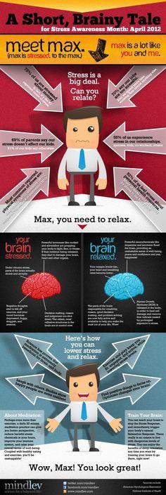Cerebro estresado vs. cerebro relajado. #infografia #infographic #health