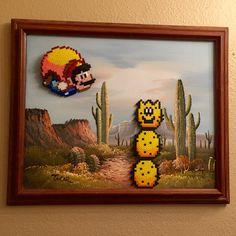 Look who I found wandering through the desert - it's Pokey! Mario art