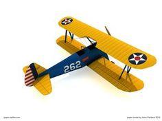 Boeing PT-17 Stearman - Army Trainer Plane Papercraft