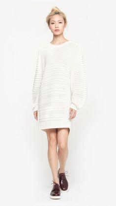 d311491e0114 Public School Knit Sweater Dress in Ivory   The Dreslyn Strickkleid,  Strickkleider, Public School