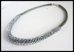 bead crochet necklaces by Olga at Polgani Studio