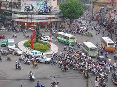 Traffic in Ho Chi Minh City, Vietnam