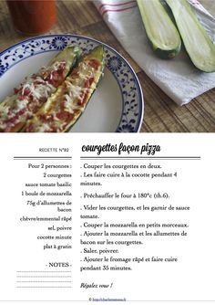 Carton Recette n°92 Bacon, Recipe Cards, Zucchini, Vegetables, Cooking, Food, Tomatoes, Partying Hard, Dutch Oven