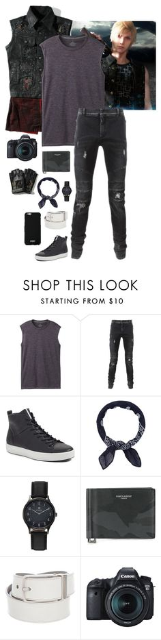 """Final Fantasy XV: Prompto"" by abbysm17es ❤ liked on Polyvore featuring prAna, Balmain, ECCO, Accessorize, Chaps, Yves Saint Laurent, Louis Vuitton, Eos, Givenchy and men's fashion"