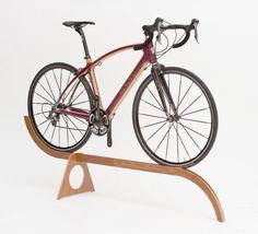 Livingroom-worthy. Wood bike stand to display a wood bike.
