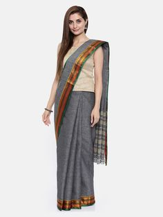 Grey Saree, Sari, Fashion, Saree, Moda, Fashion Styles, Fashion Illustrations, Saris, Sari Dress