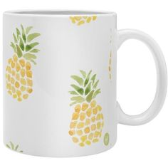 pineapple express Coffee Mug ($15) ❤ liked on Polyvore featuring home, kitchen & dining, drinkware, filler and pineapple coffee mug