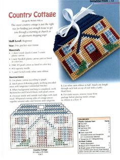 Country Cottage pocket size tissue holder 1/1