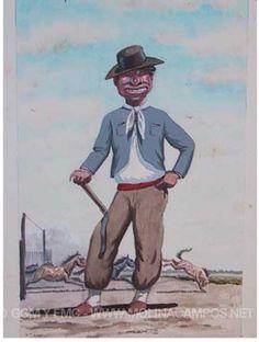 Gaucho, Cowgirls, Hipster, David, Cartoon, Baseball Cards, Country Man, Murals, Paintings