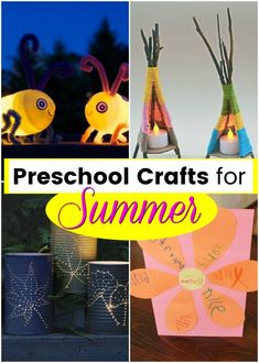 That sunshine means it is time for preschool crafts for summer! These crafts are ideal for indoors OR outdoors: flower crafts, butterflies, and sunshine fun Easy Arts And Crafts, Crafts For Kids To Make, Kids Crafts, Truck Crafts, Sunflower Crafts, Name Crafts, Cottage Crafts, Happy Paintings, Butterfly Crafts