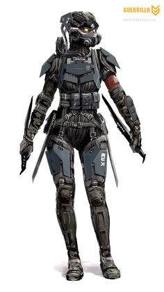helghasttactician:    Female Capture Trooper Concept.  I would be terrified to go up against them.