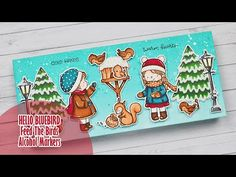 Very Merry Christmas, Christmas Cards, Alcohol Markers, Animal Cards, Winter Cards, Card Tutorials, Lawn Fawn, Distress Ink, Winter Scenes