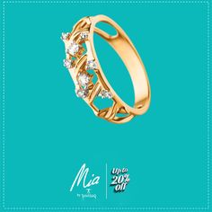Your charming finger always wants a charming Jewelry.Up to 20% OFF on all #diamond Jewelry from Mia.  Click here: http://goo.gl/0z28q0