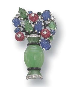 Gem-Set Brooch, 'Tutti-Frutti', Cartier, circa 1930 - Sotheby's