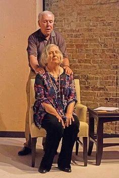"""Lyman comforts his wife Polly during SCT""""s production of Other Desert Cities, Cities, The Past, Hipster, Couple Photos, Couples, Style, Fashion, Couple Shots, Swag"""