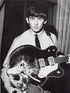 Who doesn't love the Beatles. Check out a youngGeorge Harrison back in the day with his beautiful FZ-1 guitar.