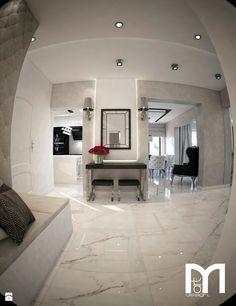 Dom koło Ostrołęki w stylu GLAMOUR - Hol / przedpokój, styl glamour - zdjęcie od Mart-Design Architektura Wnętrz