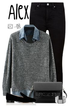 """""""Alex"""" by alyssa-eatinger ❤ liked on Polyvore featuring Paige Denim, Proenza Schouler, Gianvito Rossi and Rebecca Minkoff"""
