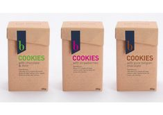 Biscuits packaging - 30 Fantastic Examples of Cookie Packaging Design – Biscuits packaging Kraft Packaging, Cake Packaging, Food Packaging Design, Packaging Design Inspiration, Organic Packaging, Label Design, Box Design, Package Design, Biscuits Packaging