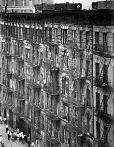 East 100th Street Facade, NYC, 1966-68. photo by Bruce Davidson