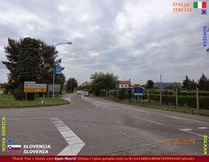 Confini amministrativi - Riigipiirid - Political borders - 国境 - 边界: 2014 IT-SI Itaalia-Sloveenia Italia-Slovenia Siena, Slovenia, Nova, Politics, Country Roads, Italia