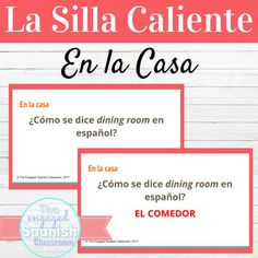Spanish House and Prepositions Hot Seat Game